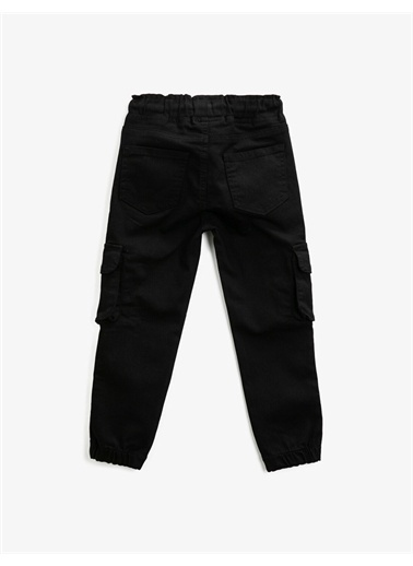 Koton Beli Baglamali Kargo Pantolon Siyah